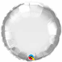 "Silver Chrome Foil Balloon (18"" Round) 1pc"
